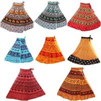 5 PC Indian Cotton Skirts Women Long Bohemian Flamenco Gypsy Hippie skirts Boho