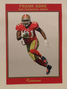 """Frank Gore FATHEAD Ad Panel 6"""" x 4"""" 49ers NFL Wall Graphics Sign Decal"""