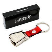 TURKISH AIRLINES - Mini Airplane Seat Belt Buckle Keychains