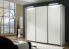 GERMAN MIAMI SLIDING WARDROBE BEDROOM FITTED FREE BLACK WHITE GRAPHITE GLASS