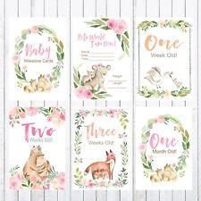 Baby Milestone Cards, 4x6 Photo Prop, 30 cards, Woodland Animals, Bear Fox Koala