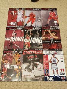 Houston Rockets Vintage Game Programs Yao Ming Olajuwon Francis Mobley + Posters