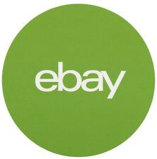 "2 Green, Round eBay Branded Stickers 3"" x 3"" Official Quantity Of 2"