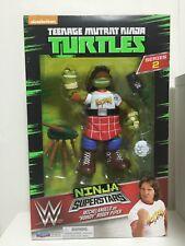 WWE TMNT Turtles Series 2 Michelangelo As Rowdy Roddy Piper Action Figure NIB