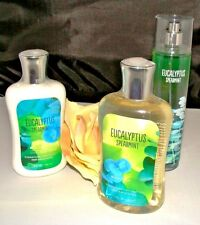 B & BW EUCALYPTUS SPEARMINT 3 PC FEMALE BATH AND BODY SET