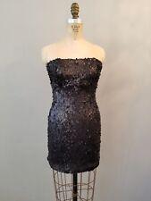 Sparkle & Fade Black Sequin Strapless Cocktail Dress Womens Size 2