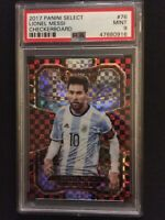 2017-18 Panini Select Checkerboard Prizm Soccer Lionel Messi Argentina PSA 9 MNT