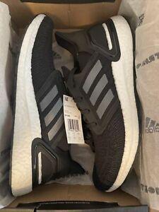 adidas Mens ULTRABOOST 20 Sneakers SZ 10.5 Black/White MSRP $180