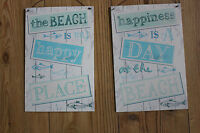 SHABBY CHIC METAL BEACH SIGN ,CHOICE OF TWO VERSES
