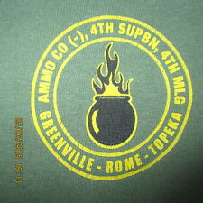 Ammo Co (-), 4th SUPBN, 4th MLG OD Green S/S Large, Greenville-Rome-Topeka