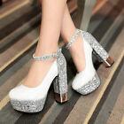 Women's Fashion Strappy Platform High Heel Party Pumps Shoes AU Size 2-8.5 D230