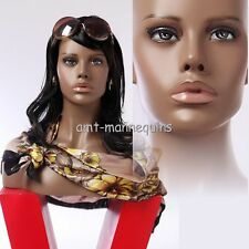 Female mannequin head display wigs hats scarves, African head- Hfo