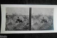 STA579 Coupole Mitrailleuse Photo 1914 Stereo WW1 première guerre mondiale