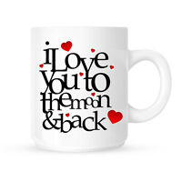 I Love You To The Moon & Back Valentines Birthday Xmas Gift Present Mug   Cup