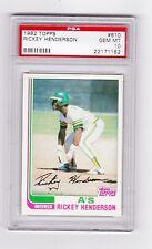 1982 Topps #610 - Rickey Henderson - PSA 10 Gem Mint - Hall of Fame