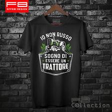T-Shirt Uomo Trattore Landini Fiat Fendt Io Non Russo Sogno Cool Moda FB TEE