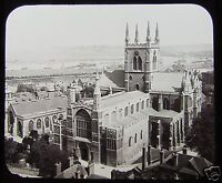 Glass Magic Lantern Slide ROCHESTER CATHEDRAL C1890 ENGLAND KENT