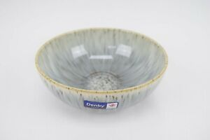 Denby Halo Speckle 6.5 Inch Coupe Cereal Bowl Gray Light Blue