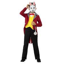 Niños Mr. Conejo Blanco Liebre Peter Carnaval Alice Wonderland Disfraz