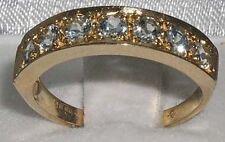 Natural Aquamarine Yellow Gold Fine Rings