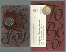 "SAN MARINO - 2 Euro comm. 2016 ""Shakespeare"" FDC in blister"