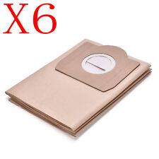 6 Paper Filter Bag For Karcher Vacuum Cleaner WD3.300M CCC WD3.800M Ecologic