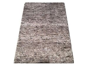 2X3 Modern Hand-Knotted Wool Area Rug Small Oriental Carpet