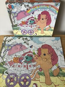 Vintage 1985 My Little Pony Baby Pony 24 Piece Puzzle Complete with Box