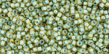 Toho 15/0 Inside Rainbow Lt Topaz Sea Foam Green Round Seed Bead 15-952 8 grams