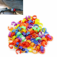 100X Chicken Hen Pigeon Leg Poultry Dove Bird Duck Chicks Parrot Clip Rings Band