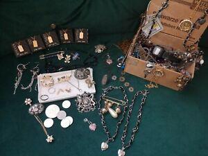 Schmuck Konvolut Nachlass, Sammlung Gold Silber Farben, Ring 800 Silber