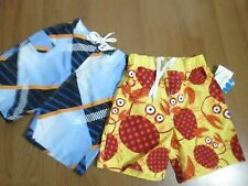 # Boys Swim Suits Set 2 Size 4 Jumping Beans & Wave Gear Nwt