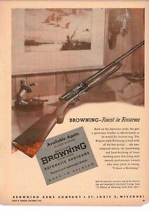 Vintage 1946 Browning Automatic 12g & 16g Shotguns St. Louis MO  ad
