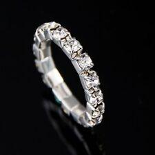 Elegant 1-Row Crystal Rhinestone Jewelry Stretch Elastic Silver Finger/Toe Ring!