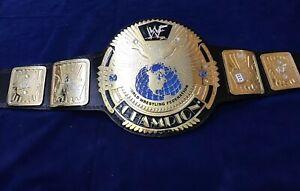 WWF BIG EAGLE SCRATCH LOGO CHAMPIONSHIP BELT IN 4MM ZINC & 24KT GOLD PLATED!