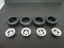 1:25 scale model car parts Wild Wheels & Wide Ovals Classic 5 Spoke Mags + Tires