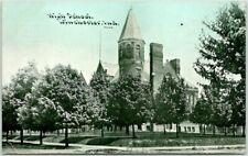 1910s WINCHESTER, Indiana Postcard HIGH SCHOOL Street View C.U. Williams #4068