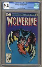 Wolverine Limited Series #2 (CGC 9.4) White pages; 1st full app. Yukio (j#5690)