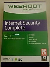 Webroot SecureAnywhere AntiVirus 1 year key Global (1 PC device)