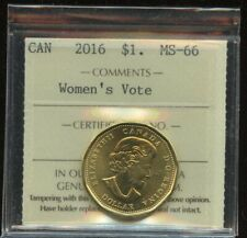 2016 Canada Women's Vote Dollar Coin - ICCS MS-66 - Loonie