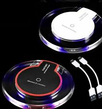 Qi Wireless Charger Charging Pad for iPhone XS/Max/XR/8/Plus Galaxy Note 9/S9/S8