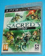 Sacred 3 - First Edition - Sony Playstation 3 PS3 - PAL New Nuovo Sealed
