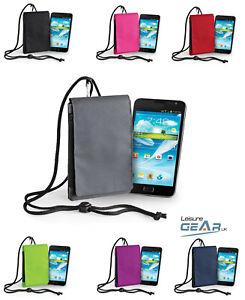 Mobile Smart Phone Case Travel Pouch Cover Belt Loop Neck Strap Zip Money Holder