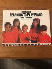 Denes Agays Learning To Play Piano Book 1