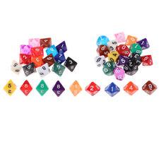 Gioco da tavolo Dadi D10 D8 Dadi Colori Dadi poliedrici Set Pack 40