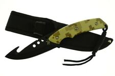 "9"" TAC Xtreme Fixd Blk Blade Guthook Fishing Bowie Knife Rambo Tactical Survival"