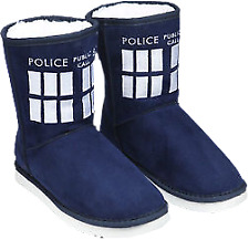 Doctor Who-Doctor Who - Tardis Boot Slipper Ladies Size 11
