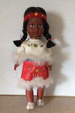 "NATIVE AMERICAN INDIAN DOLL 11"" TALL IN TRADITIONAL COSTUME With Stand"