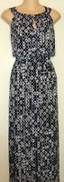 GRACE ELEMENTS PLUS BLACK WHITE GRAY PRINT MAXI DRESS SIZE 1X 16W  A132