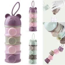 4 Layers Baby Milk Powder Formula Dispenser Bottle Container Food Storage Box